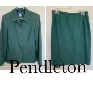 Vintage Pendleton tweed two piece classic suit